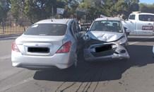 Fortunate escape from injury in a road crash in Primrose