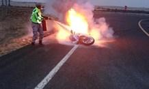 Biker crashes trying to escape arrest for speeding