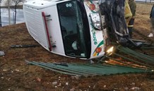 Driver arrested after CCTV footage revealed vehicle pushing ambulance off the road, Bethlehem