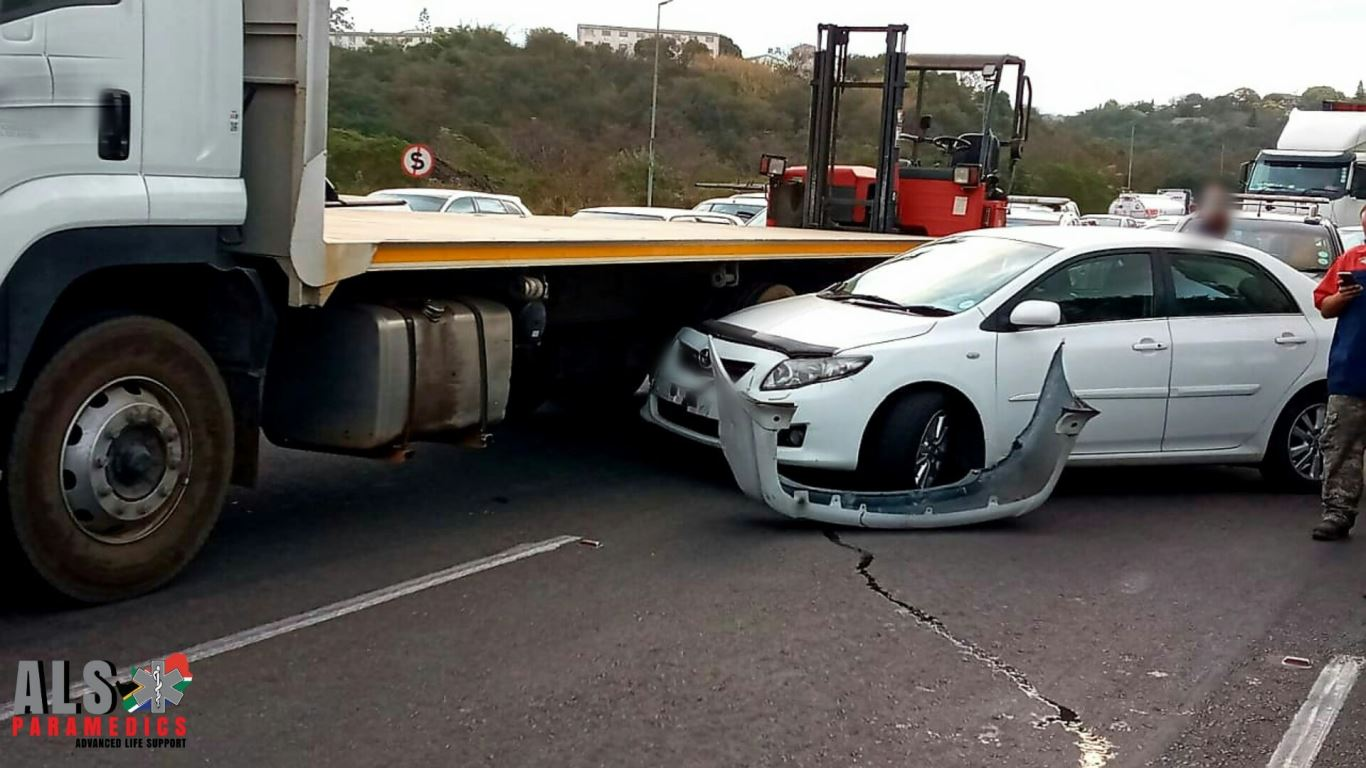 One injured in a multiple-vehicle collision on the M7