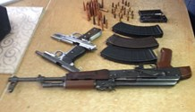 Johannesburg Flying Squad recovers firearms.