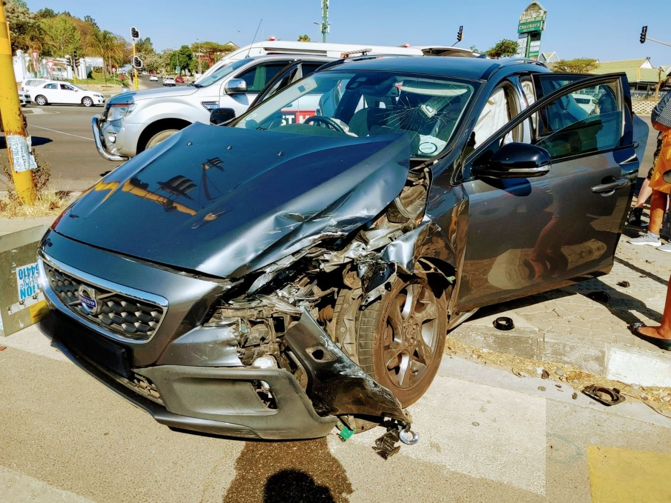 One injured in a two-vehicle collision in Fourways