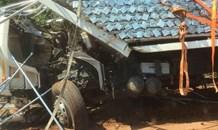 Truck crash on the R71 at Magoebaskloof Ruskamp.