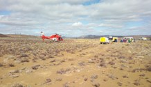 Victim arlifted from a road crash on the N1 near Laingsburg