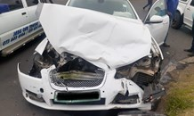 Two-vehicle collision in Harrismith