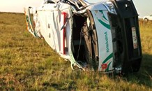 Fatal ambulance rollover after tyre burst at Deneysville on the R549 between Sasolburg & Deneysville