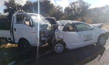 Driver in light delivery vehicle crashes into traffic enforcement vehicle in Limpopo