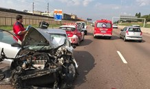 Two people sustained minor injuries when their vehicles collided on the N1 South