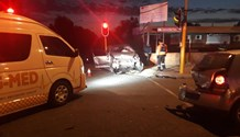 Three vehicles collided leaving one person in Kimberley