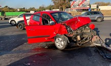 Three injured in R5 collision