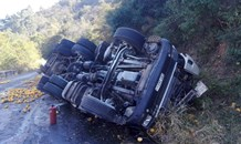 Entrapment in truck rollover on the R528 George's Valley road.
