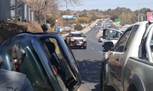 Two vehicle collision in Sandton