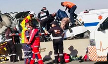 Two seriously injured in a taxi collision on the N1 near Midrand
