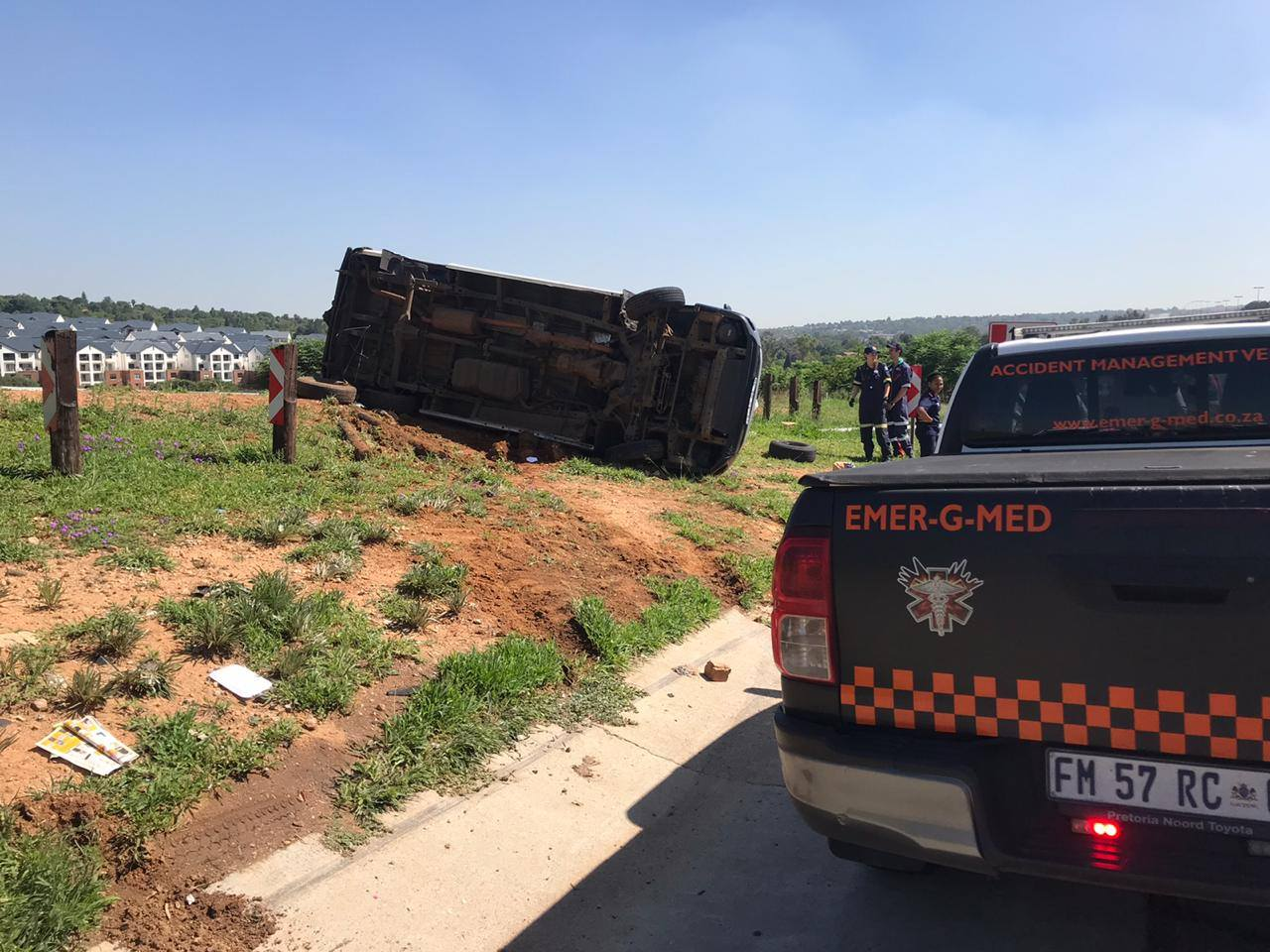 Several injured in taxi rollover in Northriding