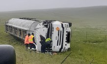 One injured in truck rollover crash at the N3 Montrose