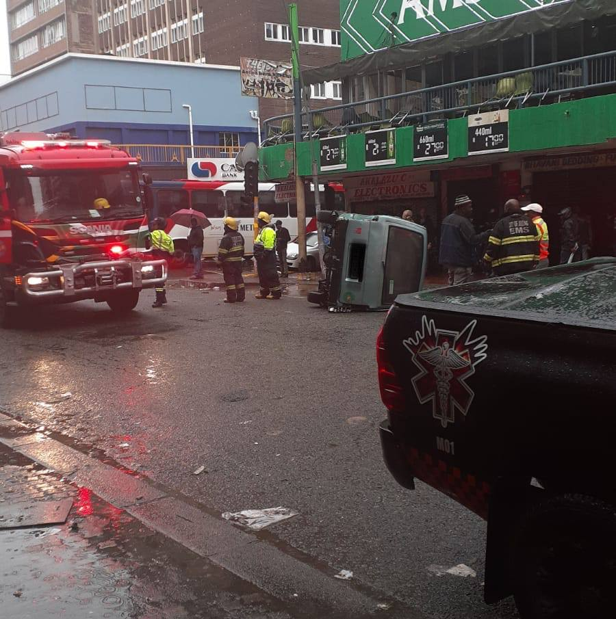 Several injured in taxi rollover in Hillbrow
