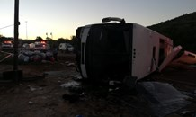 Several injured after bus rollover on the N14 and Eeufees offramp, Pretoria