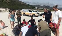 Lady injured while swimming at Noordhoek
