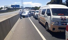 Road crash on the N12 at Boksburg