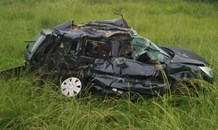 Five killed after motor vehicle crashed into a truck.