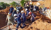 Worker trapped for 3 hours in Beaumont Road in the Bluff, South of Durban.