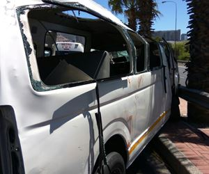 Approximately 22 injured after taxi rolls on Nelson Mandela Boulevard in Cape Town