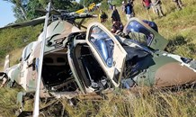 Military Helicopter crashes in Centurion