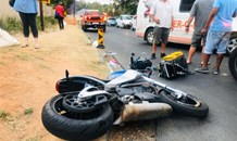 One seriously injured in a motorcycle collision