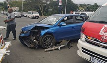 Two-vehicle collision in Verulam