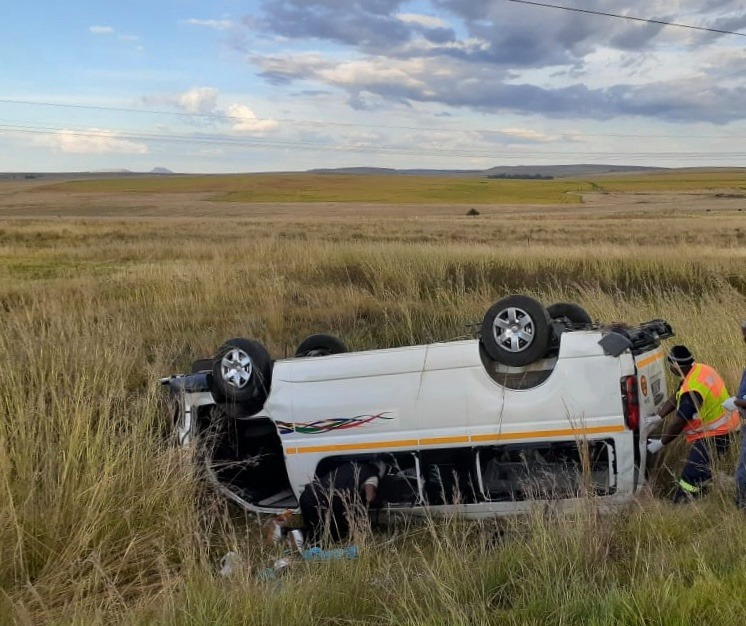 Five injured in a taxi collision on the N3