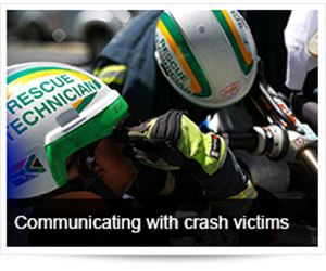 Communication on the Scene of a Road Crash with Crash Victims