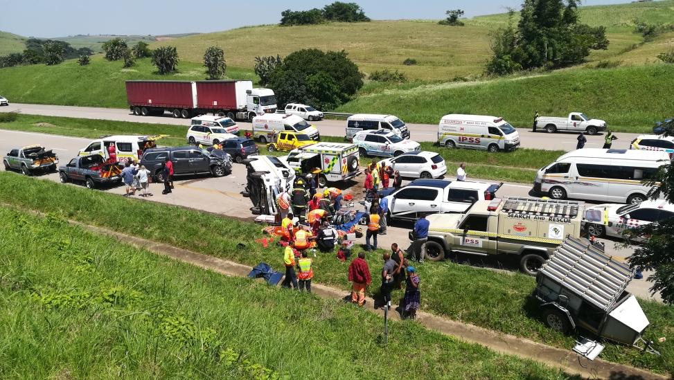 KwaZulu-Natal: Two critical, multiple others injured in North Coast crash