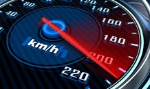 A 27 year old Speedster was arrested after driving at the Illegal speed of 220 km/h in a 120 km/h zone