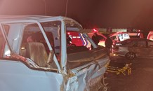 Taxi  collision leaves 16 injured on the Main Reef Road in Crown Mines