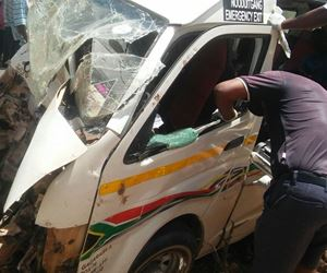 Police investigate the death of five people during a crash along Maangani and Tshituni road outside Thohoyandou