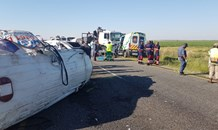 Several critically injured in collision between 2 ambulances and a truck between Kroonstad & Vredefort.