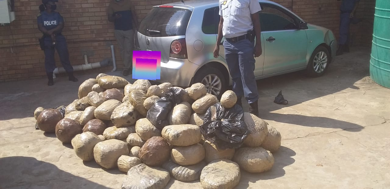 44-Year-old man arrested after being reportedly found in possession of dagga to the estimated street value of about R252 000-00