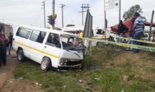 Six injured after two taxis collide on Main Road in Edendale