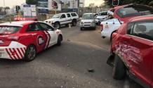 Four injured in three-vehicle collision in Bryanston