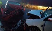 Three injured in a two-vehicle collision in the Outeniqua Pass, George