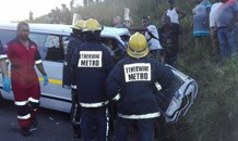 Two taxis collision leaves approximately 20 injured.