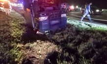 Fields Hill M13 crash leaves two injured