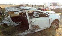 Bronkhorstspruit: car cut in half in R25 collision