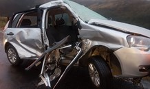KZN: 8 injured as 3 vehicles collide in poor weather on the N3 Durban bound near Nottingham Road.