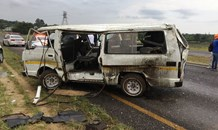 Multiple occupants ejected from minibus taxi as it rolled on Olifantsfontein Road