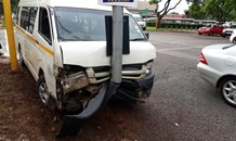 A Minibus taxi crash on Pretorius Street at the intersection of Eastwood Street in Arcadia