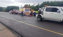 KZN: Three cyclists struck down by mini-bus taxi on M4.