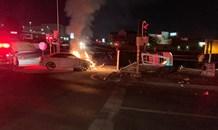 Gauteng: Two injured in bakkie vs car crash on Modderfontein road