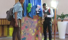 Educating children on their rights through puppet shows