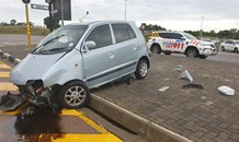 Gauteng: No injuries reported at a single vehicle collision